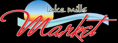 A logo of Lake Mills Market
